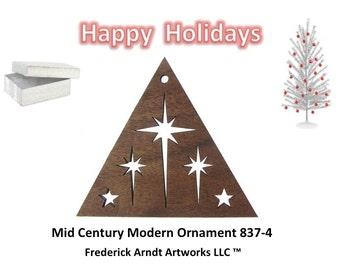 837-4 Mid Century Modern  Christmas Ornament