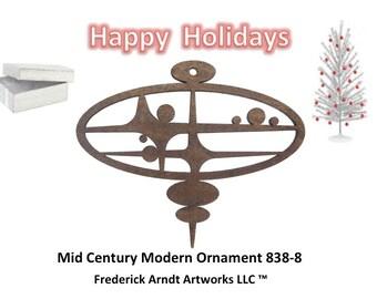 838-8 Mid Century Modern Christmas Ornament