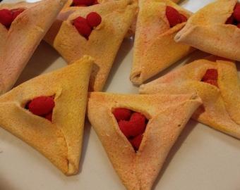 4 Hamantaschen Cookies fits American Girl Mini Food Jewish holidays