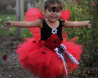 Lady Bug Tutu Red and Black Polka Dot Tutu, Birthday Tutu, Photography Prop, Baby Tutu, Lady Bug Costume