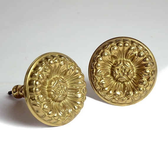 Antique Curtain Tiebacks A Pair Of Solid Brass Tie Backs For