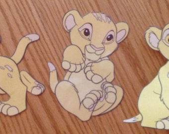 Simba  baby shower decorations! Set of 12, adorable!!