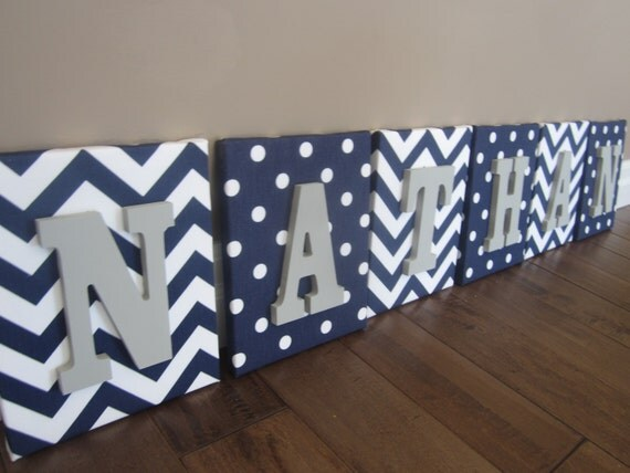 Items Similar To Wall Canvas Letters, Nursery Decor