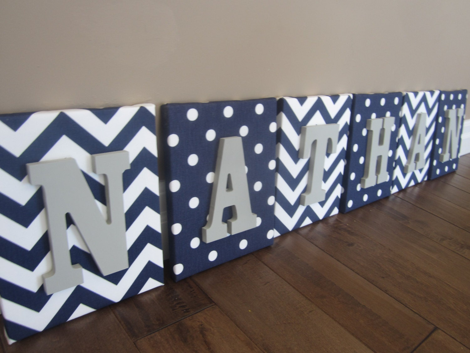 Wall Canvas Letters Nursery Decor Nursery Letters By