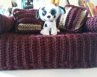 Crochet Couch Tissue Box Cover
