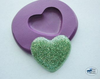 Large Heart Mold - Silicone Mold - Polymer Clay Resin Fondant