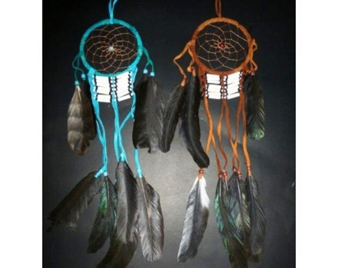 D6-Bone Dream Catcher ( Choose your color, available brown  and turquoise)