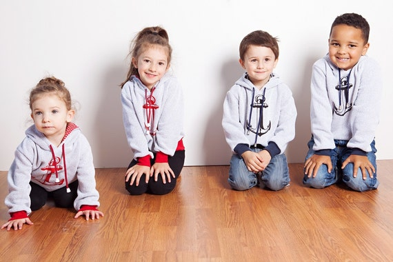 Anchors Aweigh- Mini Soul's Hooded/Crew Neck Sweaters