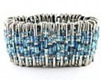 Turquoise Safety Pin Bracelet