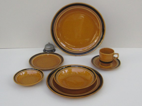SALE *Valen-DIne* Fuji Stone Tahiti Pattern  Dinnerware , Chop Platter, Serving Bowl, Sugar Bowl with Cover and Creamer