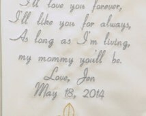 Sentimental Wedding Gifts For Mom : Sentimental Gifts for Mother of the bride Embroidered Personalized ...
