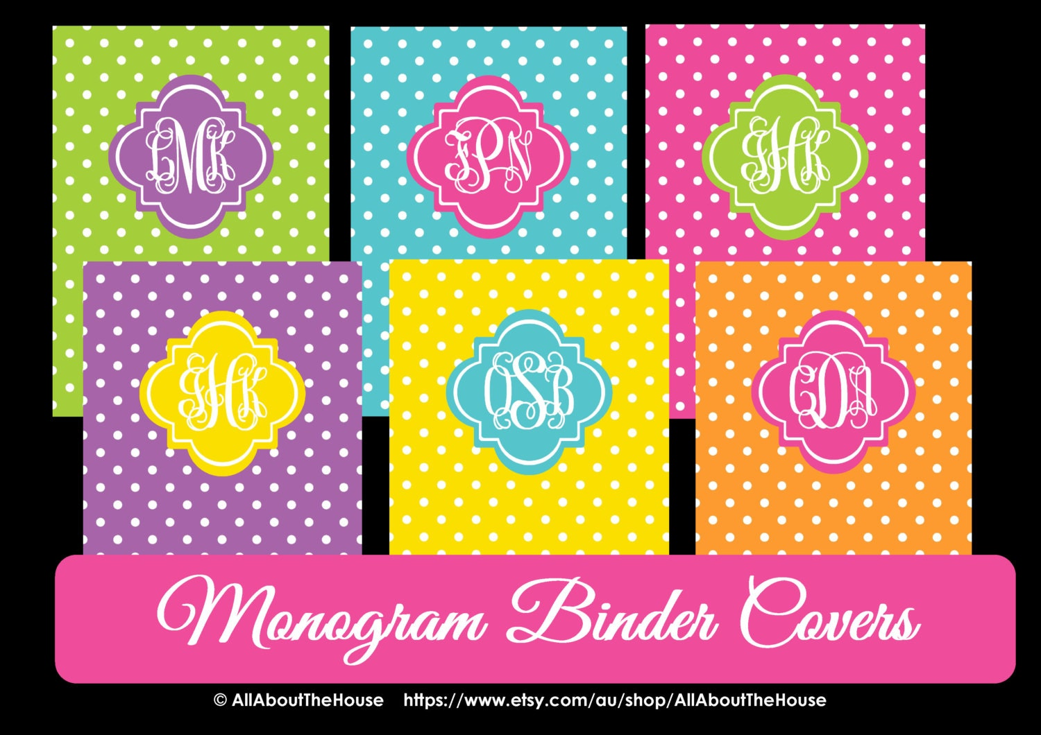 It is a photo of Canny Printable Monogram Binder Cover