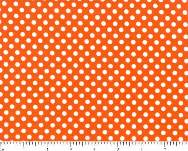 Sale orange with small white dots by houndstoothboutique on etsy