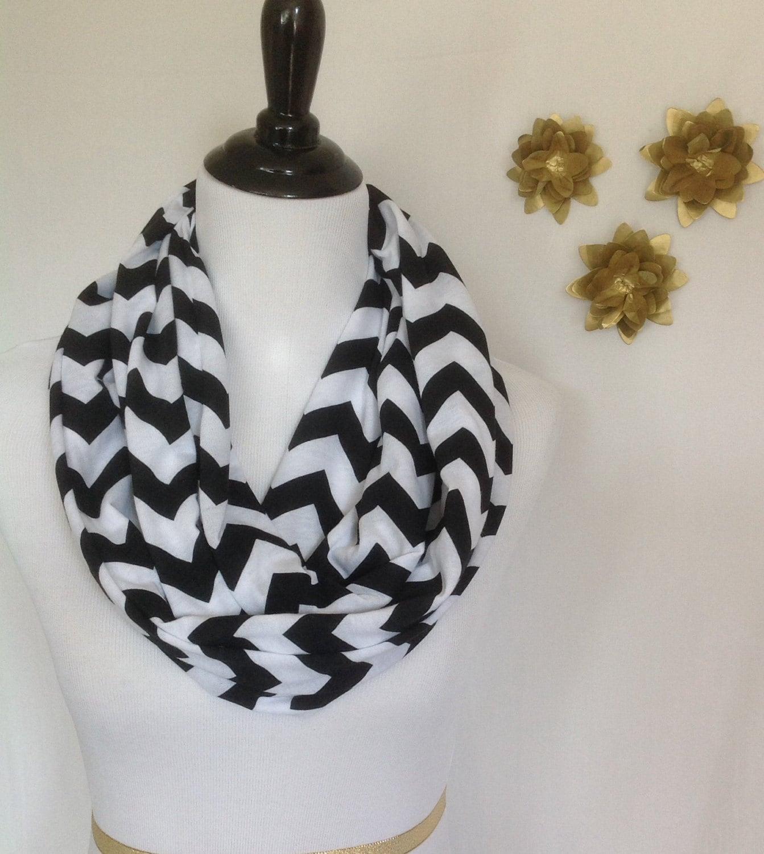 black and white chevron infinity scarf black and white