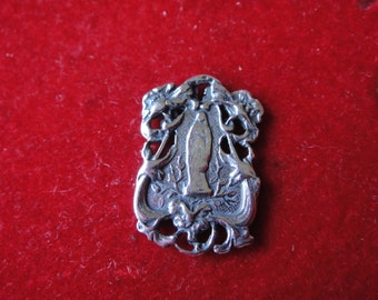 925 sterling silver oxidized Virgin Mary charm , Silver Virgin Mary, Virgin Mary charm, religious charm