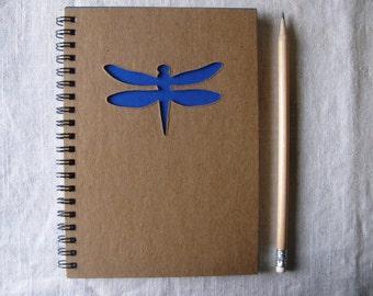 Dragonfly Peek-a-boo - 5 x 7 Journal- Your choice Peek a boo color