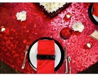 Popular items for table linens red on Etsy