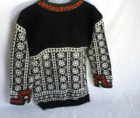 Norwegian Traditional Wool Sweater Lusekofte For