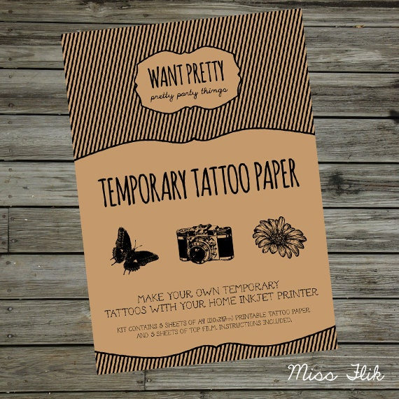 Unavailable listing on etsy for Temporary tattoo printer