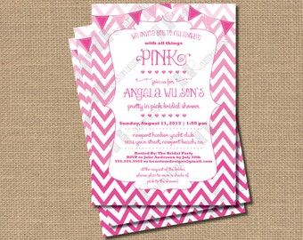 All Things Pink Bridal Shower Invitation