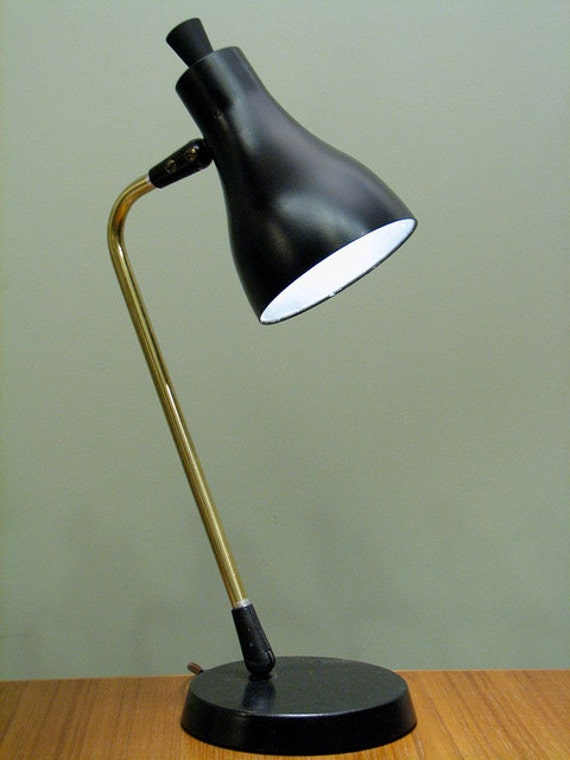 vintage lightolier desk lamp mid century modern small table. Black Bedroom Furniture Sets. Home Design Ideas