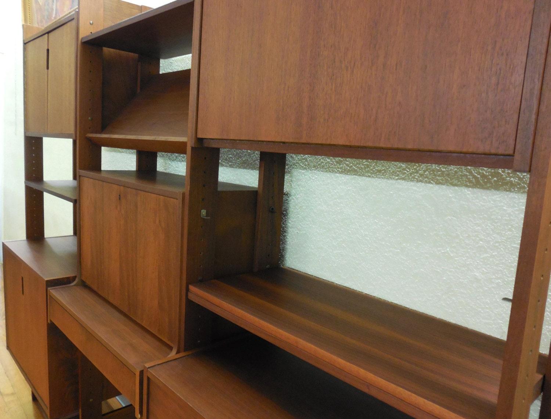 Mid Century Wall Unit Desk Cabinet Room Divider Danish Modern