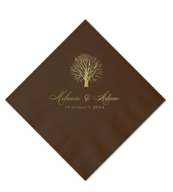 personalized fall wedding napkins by graciousbridal on etsy