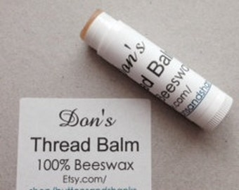 Beeswax thread conditioner in a tube - 100% pure beeswax