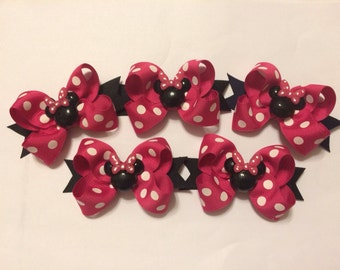 Set of 5 Minnie Mouse Party Favor Bows