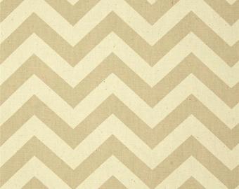 1/2 or 1 yard fabric -Home Decor Chevron Fabric -Premier Prints Zig Zag Khaki Beige