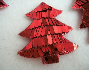 Tree with sequins, red, 5 pieces (1142)