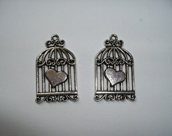 Birdcage Pendant, 2 pieces (287)