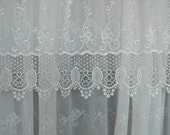 8 -  3 piece sets Lace sheer curtains