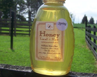 Pure Raw Ohio Spring Honey 16 oz