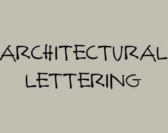 Architectural Lettering Font