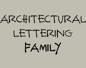 Architectural Lettering Family