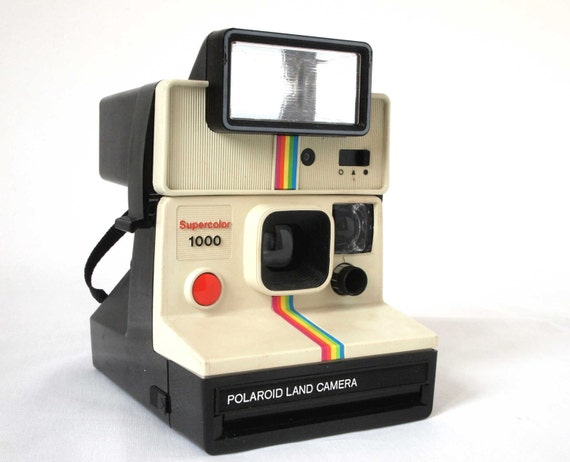 white polaroid supercolor 1000 land camera with polatronic 1. Black Bedroom Furniture Sets. Home Design Ideas