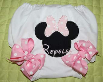 Girl's Appliqued Bloomers with Bows