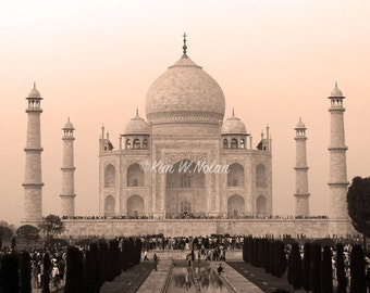 Taj Mahal print Iconic black and white prints India Indian wall art India photography Photographs of India Taj Mahal wall art India decor