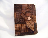 Kindle Fire Cover, CHOCOLATE, chocolate bars, candy, nonpareils, brown and black.