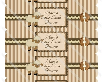 Little Lamb  Water Bottle Labels Print or Digital Download