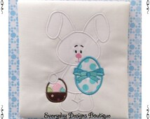 Bunny Boy 2 Machine Embroidery Applique Design