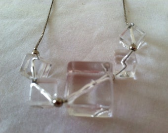 Lucite Cubes Necklace