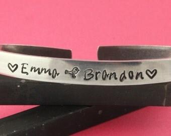 Personalized Cuff Bracelet - Custom Cuff Bracelet - Customizable Cuff Bracelet - Gift for Mom - Gift for Grandma - Silver Name Bracelet