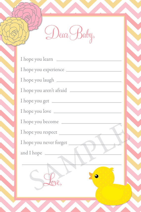 Lovely Fill In The Blank Baby Shower Invitations Part - 11: Rubber Duck Baby Shower Invitation, Pink Duck Baby Shower Invitation, Pink  And Yellow Chevron Invite, Printable Or Printed