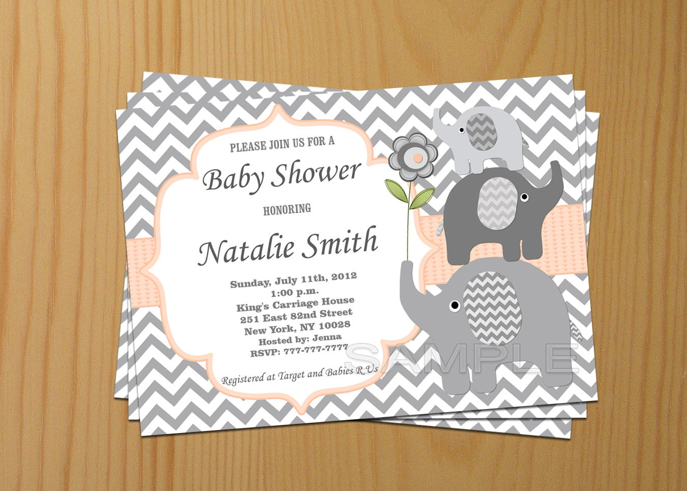 Editable Baby Shower Invitation Elephant Baby Shower – Editable Baby Shower Invitations