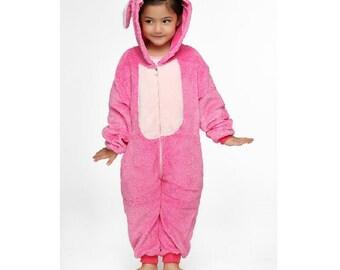 Halloween KIGURUMI Animal Pajamas Pyjamas Costume Onesie Kid SLOTH  pink Stitch