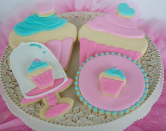 One dozen cupcake cookies as featured on Hostess with the Mostess