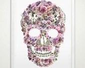 Floral Skull - digital art for framing & decoration
