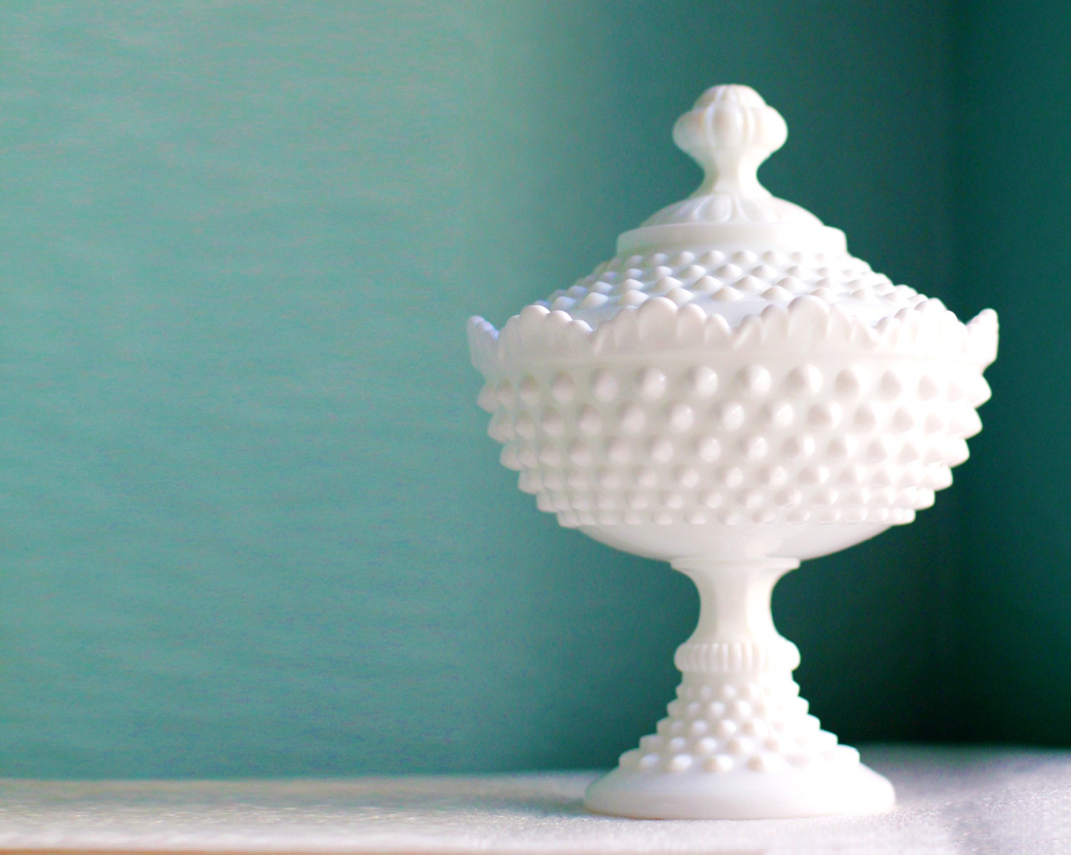 Milk glass compote or candy dish wedding centerpiece